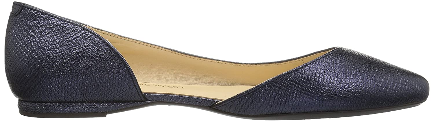 Nine West B01N5YG9MX Women's SPRUCE9X9 Metallic Ballet Flat B01N5YG9MX West 11 B(M) US|Navy 3952a0