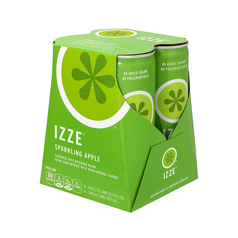IZZE Sparkling Juice, Apple, 8.4 oz Cans, 4 Count