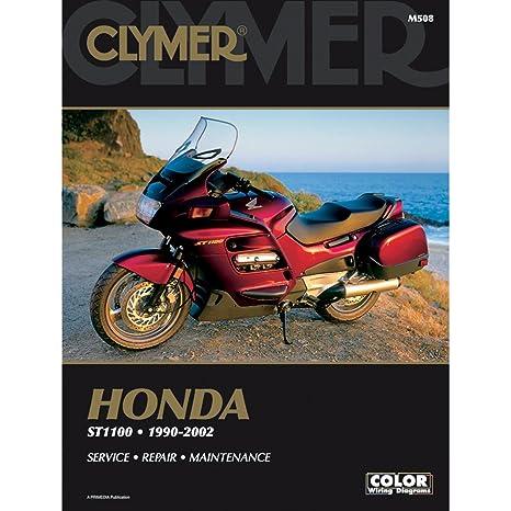 amazon com clymer honda st100 pan european 1990 2002 automotive rh amazon com 2002 Honda Goldwing 2002 honda st1100 repair manual