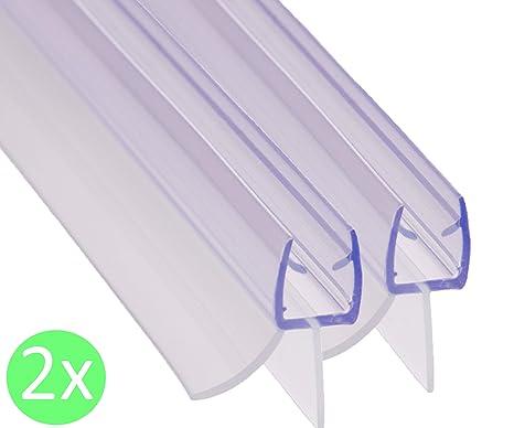 REDICHT 2x 100cm Duschdichtung transparent   für Glasstärke 6mm 7mm 8mm   Ersatzdichtung Dusche   Duschkabinen Dichtung   UV-
