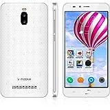携帯 スマートフォン 8GB ROM+16GB SD Card Android 8.1 V·Mobile A13 スマートフォン本体 5.5 インチ HD 3G クアッドコア 3000mAh バッテリー 5MPカメラ デュアル SIMフリースマートフォン WIFI GPS Bluetoothをサポート (ホワイト)