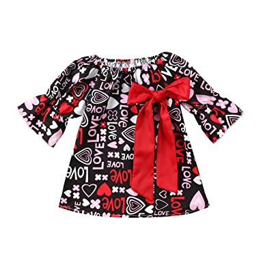 20da504385b9 Amazon.com  Baby Girl Cotton Dress Infant Long Sleeve Ruffle Dresses ...