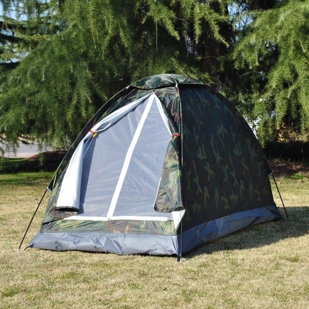 TY&WJ Campingzelt Camouflage Feld Kuppelzelte Ausflug Picknick Windproof Zelte Tragbares Zelt Lightweight Einfache Montage 1 Person