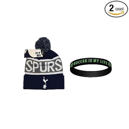 8f27e4d13fbf2 Tottenham Hotspur F.C. Beanie Skull Cap Hat Winter+ Rubber Bracelet -2  Items T001