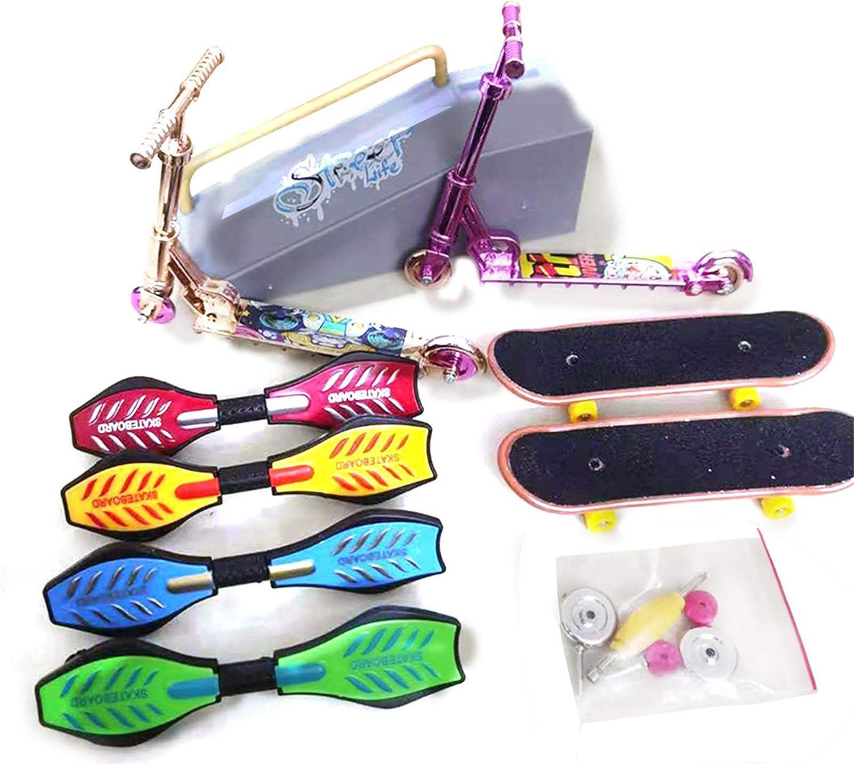 Mini Juguetes De Mano Finger Scooter sympuk Juego De 16 Mini Diapason Patineta De Dedos Juguetes Educativos Para Ni/ños De Descompresi/ón advantageous Skate Park Kit