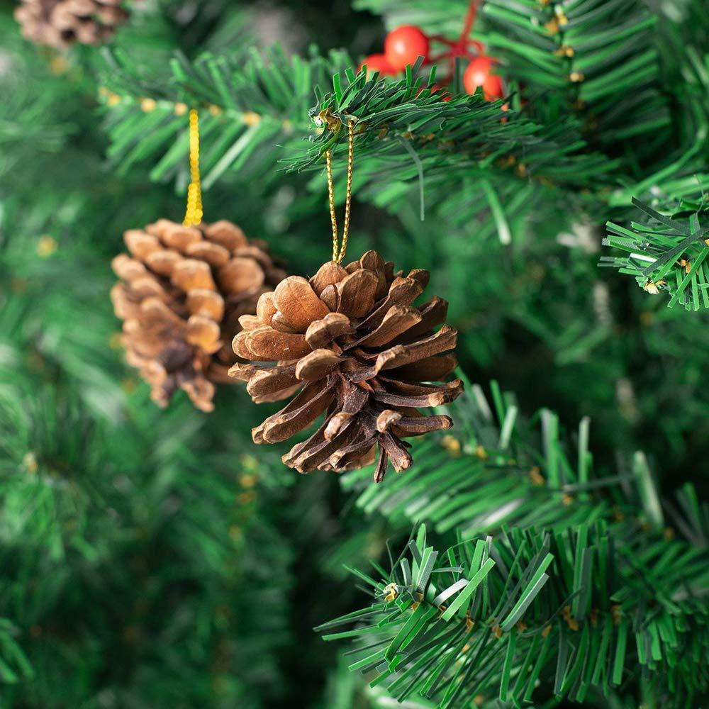 marron d/'une f/ête du nouvel an 2-3cm Id/éales pour la d/écoration de No/ël Lot de 10/pommes de pin naturelles AsentechUK/®