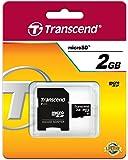 Transcend Micro SD 2GB Speicherkarte mit SD-Adapter