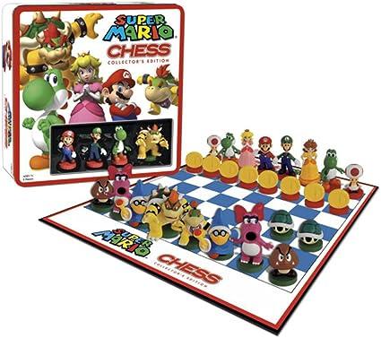 Universal Trends - Super Mario Chess - Ajedrez con figuras de Super Mario - Juego ajedrez Súper Mario 3D Edición Deluxe: Amazon.es: Juguetes y juegos