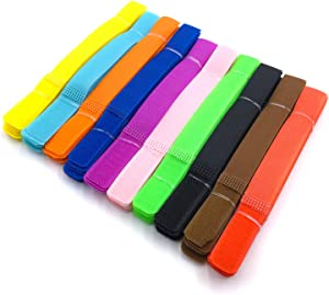 GALAOMA 100pcs Cable Ties Reusable Fastening Straps Wire Organizer Cord Black Rope Holder Colourful Tie for Home Office Laptop PC TV Electronics Management etc 10 Colors 7 Inch (color mixing)