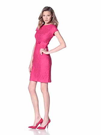 Taylor Women's Lace Sheath Dress, Fuchsia, 2 Missy