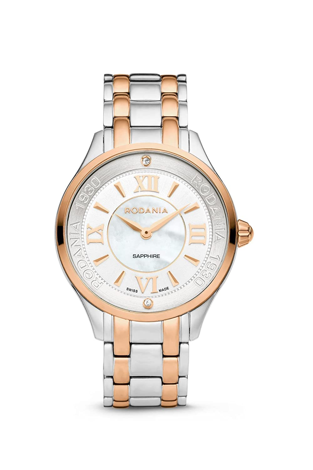 RODANIA - Star Diamond Damenuhr - rosÉ-bicolor Ø 34 mm