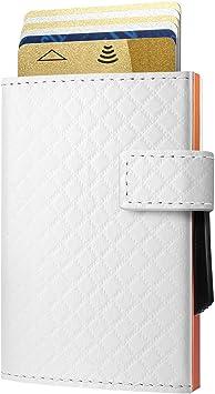 Porte-Cartes de Visite One Touch Jusqu/à 15 Cartes Aluminium anodis/é Bleu /ÖGON Smart Wallets
