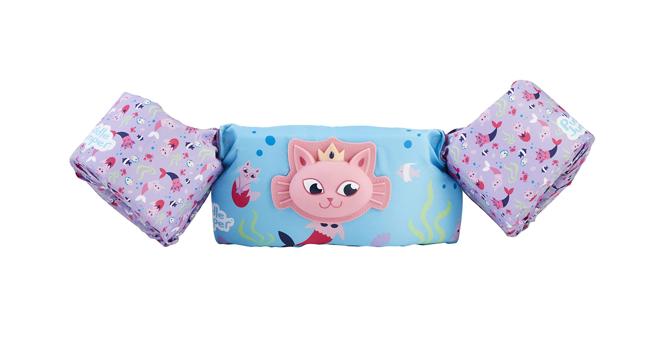 Stearns Puddle Jumper Kids Deluxe 3D Life Jacket | Premium Life Vest for Children with 3D Character, Cat Mermaid, 30-50 Pounds by Stearns