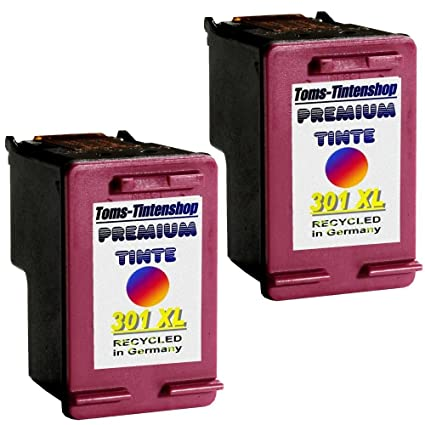 2 Cartuchos de Tinta para HP 301 XL Color sustituye a ...