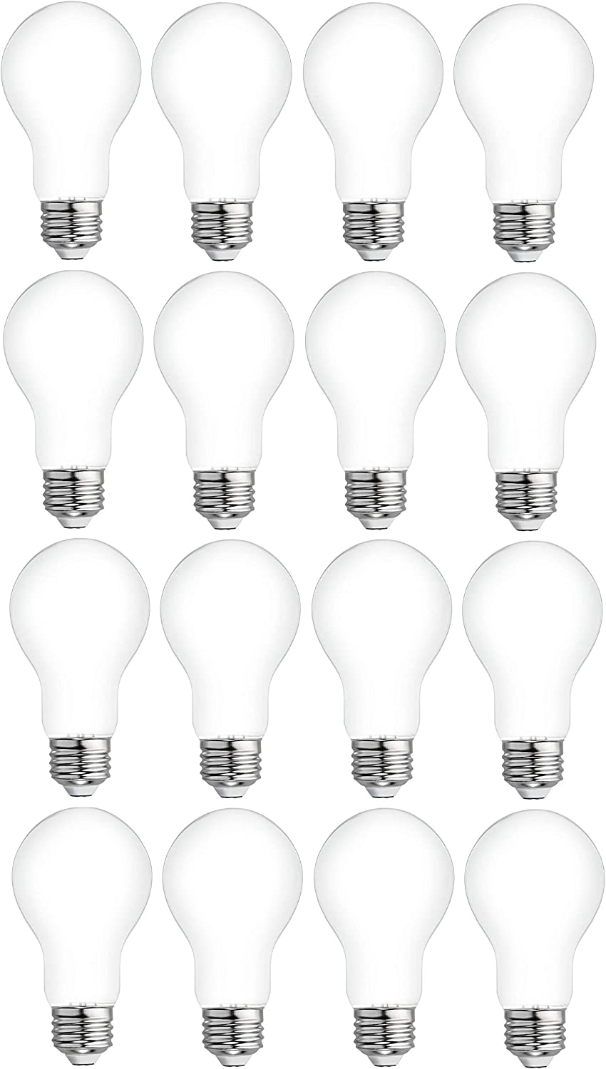 GE Classic 16-Pack 60 W Equivalent Dimmable Soft White A19 LED Light Fixture Light Bulbs