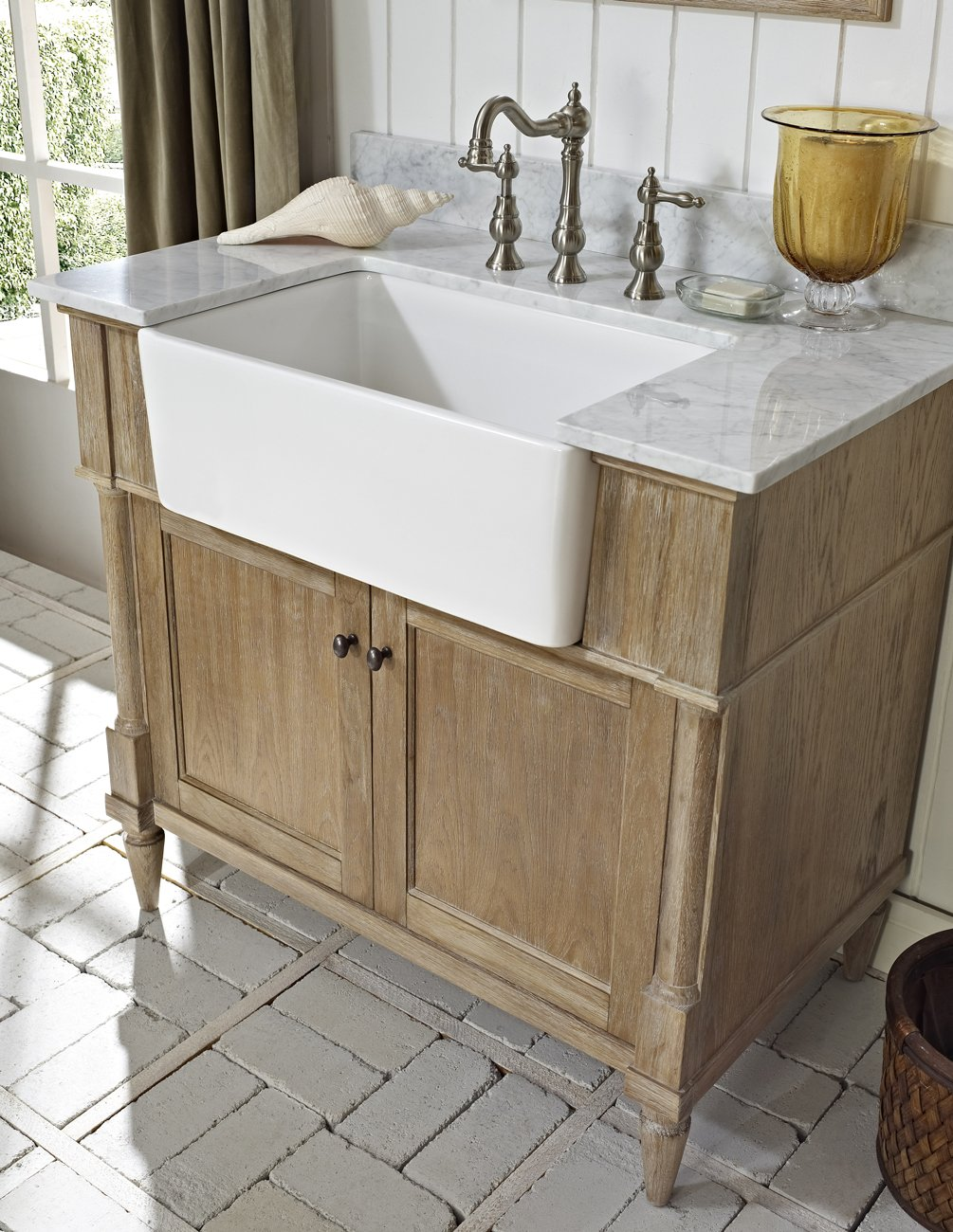 washstand bathroom of re a to looking remodel one by you building or pin fabulous look vanity kind farmhouse here some if options are create