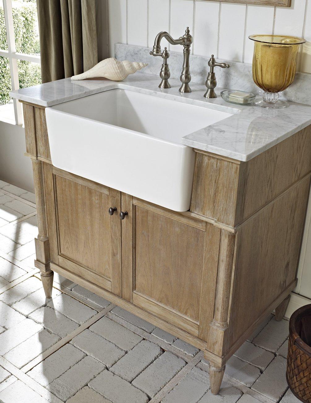 Rustic chic bathroom - Fairmont Designs 142 Fv36 Rustic Chic 36 Farmhouse Vanity Weathered Oak Amazon Com