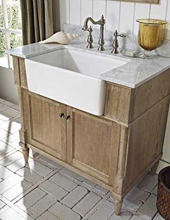 Merveilleux Fairmont Designs 142 FV36 Rustic Chic 36u0026quot; Farmhouse Vanity Base  Cabinet Only Weathered Oak