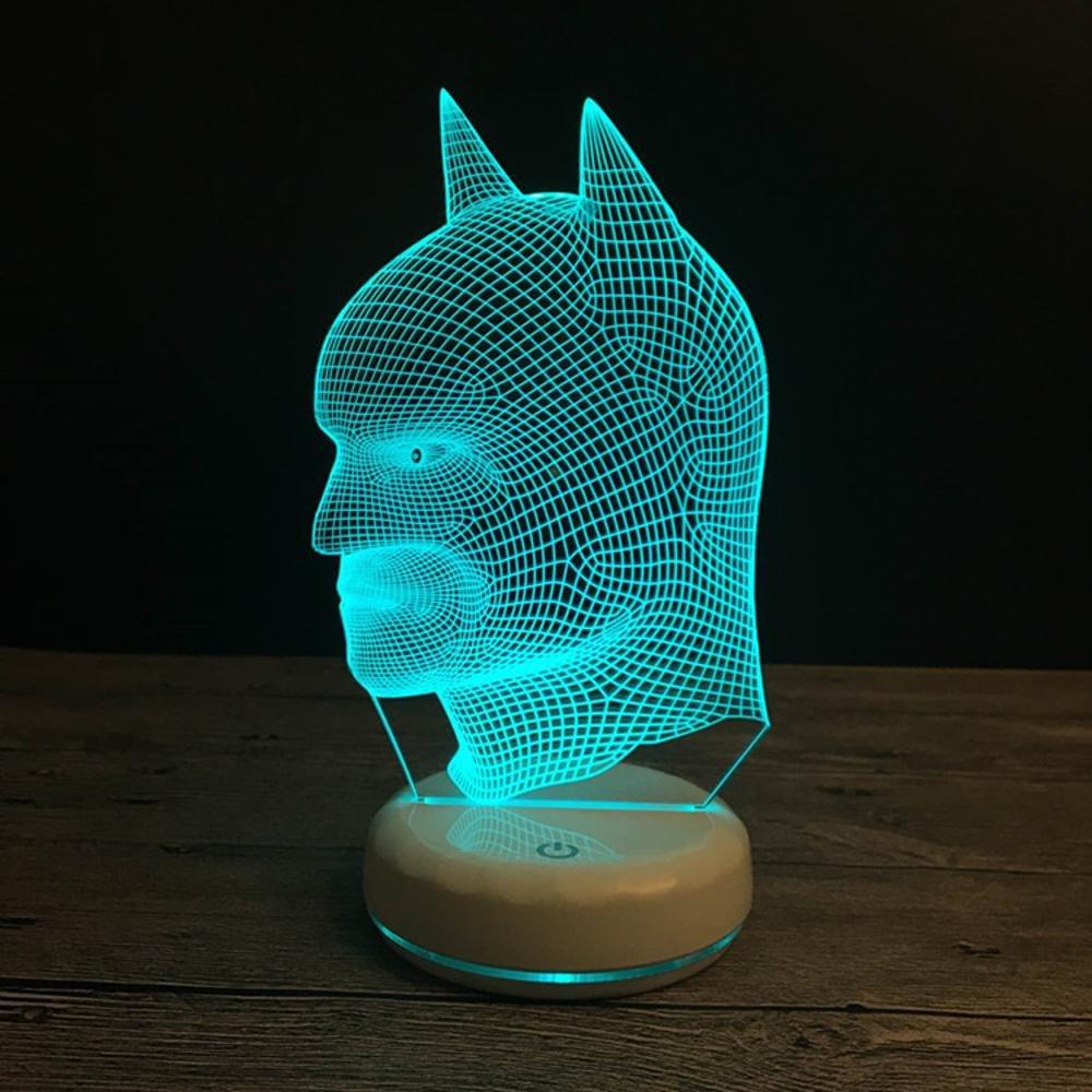 Wmshpeds Porcelana blanca de base base de de control remoto de luces de colores LED 3D estéreo visual táctil lámpara de luz interruptor de la noche 11ced1