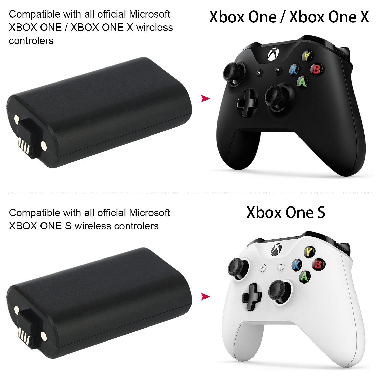 Amazon.com: XBOX ONE paquete de batería 2pcs x 1200 mAh Xbox ...