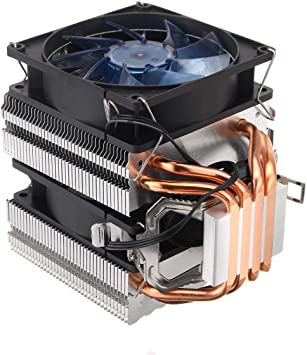 Ventilador de refrigeración de CPU retroiluminado Azul de 3 Pines ...