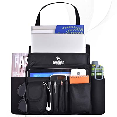 DMoose Car Front Seat Organizer with Laptop and Tablet Storage, Compact Passenger Side Caddy with Neoprene Water Bottle Pockets, File Folder Sleeves, and Space Saving Compartments: Automotive