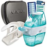 Navage Nasal Irrigation Deluxe Bundle: Nav?ge Nose Cleaner 48 SaltPod Capsules Countertop Caddy and Travel Case. $155.75…