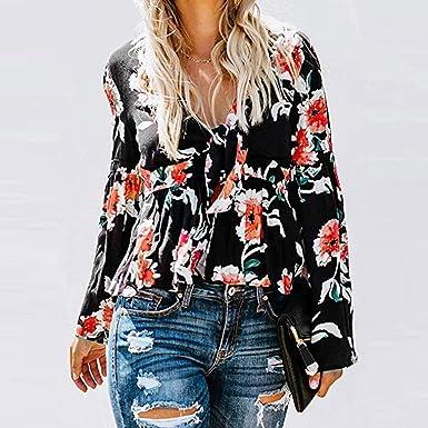 Amazon.com: Camisetas para mujer, a la moda, con estampado ...