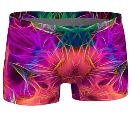 8e302ab63f Eco Friendly Workout Shorts RADIKON Yoga Shorts Printed Gym Shorts Boho  Artwear Custom Print Yoga Pants