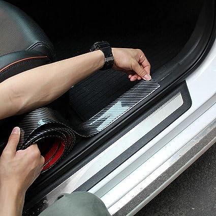Bumper Protector Car Strip Carbon Fiber Rubber Door Edge Moulding Sticker Guard