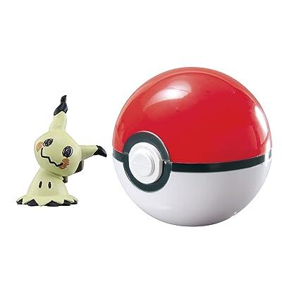 Pokémon Clip 'n' Carry Poké Ball, Mimikyu and Poké Ball: Toys & Games
