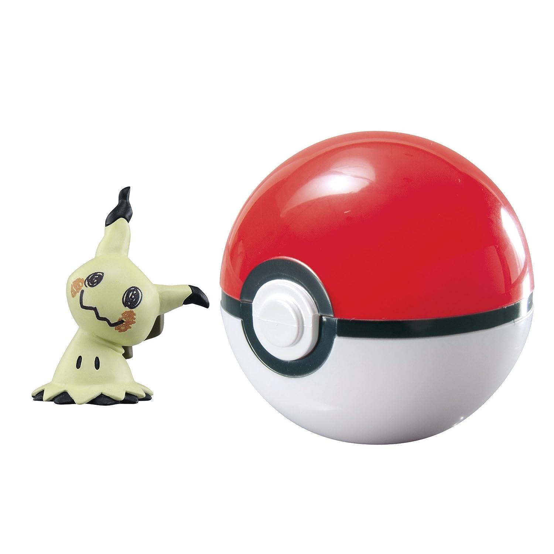 Pokémon T19106, Pokéball Tomy per giocare fuori casa con Mimikyu, giocattolo in materiale di alta qualità per bambini dai 4anni in su T19138