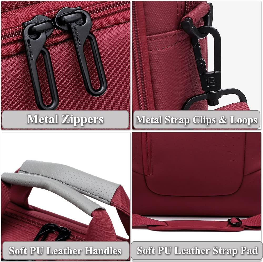 DTBG 15.6 Pouces Sacoche Ordinateur Portable Sac /à Bandouli/ère Sac /à Main Porte-Document Compatible MacBook//Notebook//Netbook//Chromebook//Tablette Ordinateurs Rouge