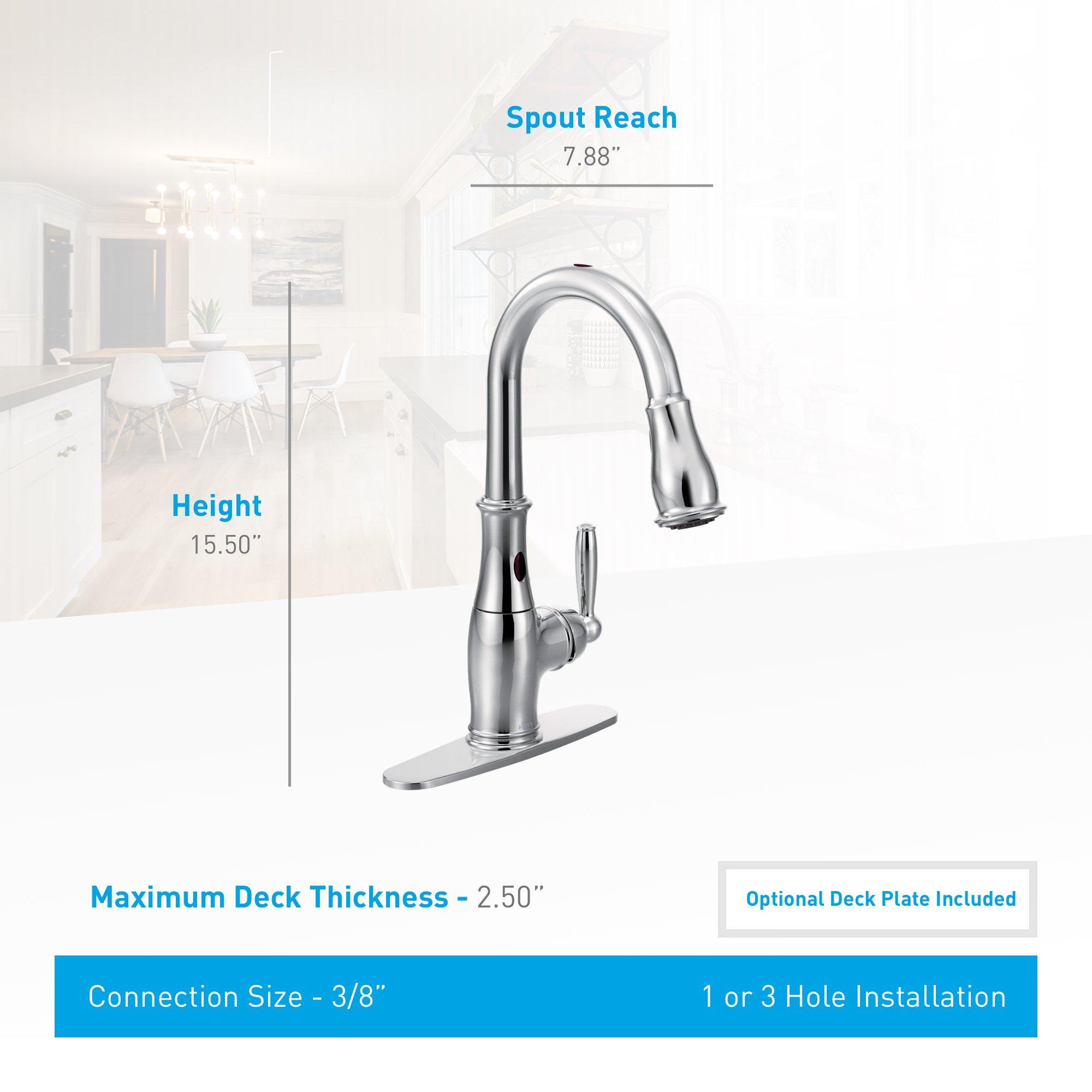 Moen Motionsense Kitchen Faucet: Moen Brantford Motionsense Touchless One-Handle High-Arc