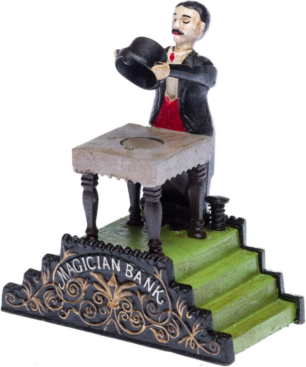 Moneybox Mago evocar la Nostalgia de Hierro de Estilo Antiguo Hucha de Magia