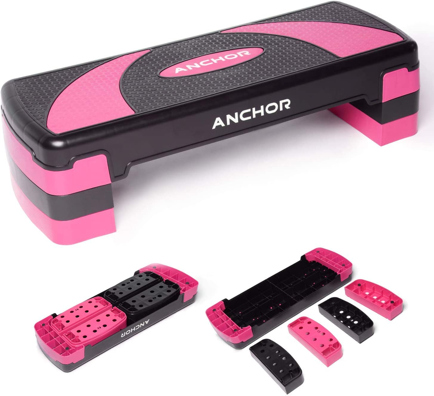 Multi Level EXERCISE STEPPERS 2 or 3 Block Aerobic Steps Gym Fitness Adjustable