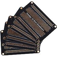 GeeekPi Förpackning med 5 st Proto Breadboard PCB-bräda guldpläterad experimentell brödbräda dubbelsidig PCB DIY-kit för…