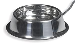Allied Stainless Steel Heated Pet Bowl,5-Quart