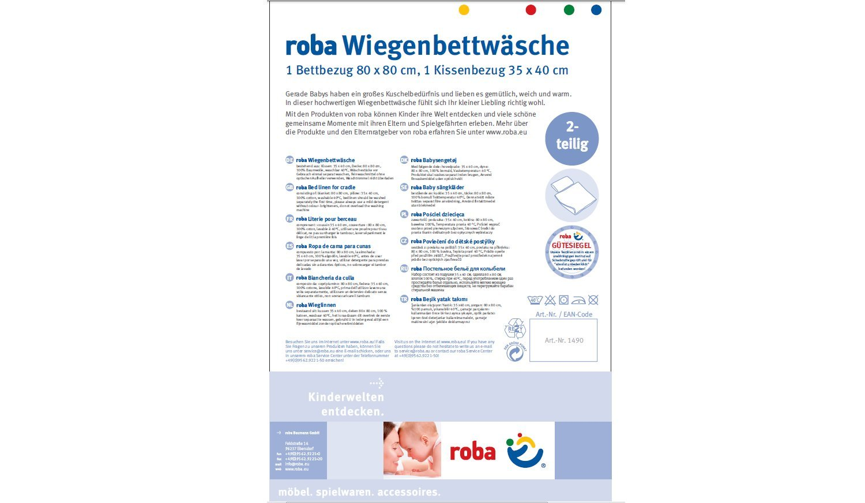 """100/% Baumwolle Kollektion /""""Sternenzauber/"""" Bettbezug: 80x80 /& Kissenbezug 40x35 cm Wendebettw/äsche roba Wiegenset 2-tlg Wiegenbettw/äsche 80x80 cm"""
