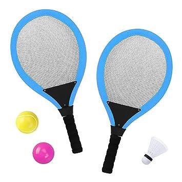 9d6a2b4504 YIMORE Racchetta Tennis Badminton Set con Palle Giocattolo per Bambini - 3  in 1 Gioco di