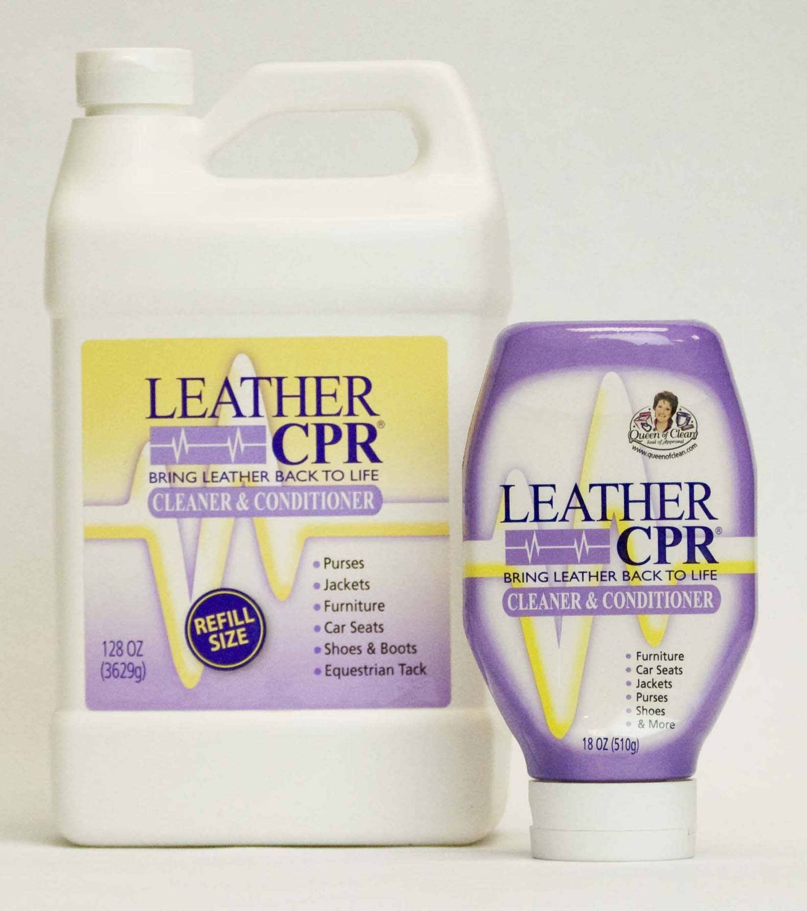 Leather CPR Cleaner & Conditioner Combo, 18 Ounce and 128 Ounce by CPR Cleaning Products (Image #1)