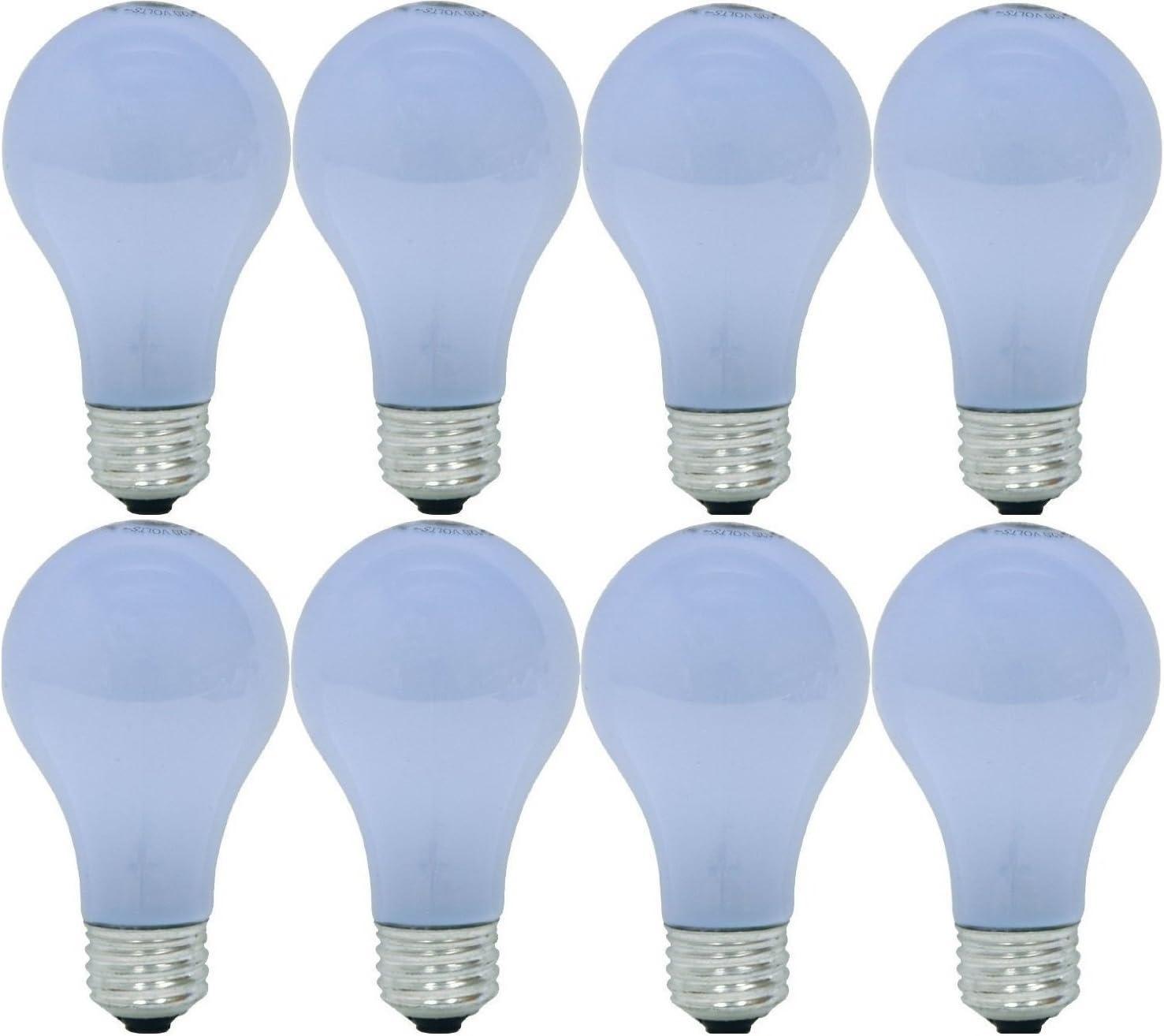 GE Lighting 67770 Reveal 43-Watt (60-Watt Replacement) 565-Lumen A19 Light Bulb with Medium Base, 8-Pack