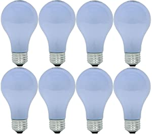 GE Lighting 67773 Reveal 53-Watt, 790-Lumen A19 Light Bulb with Medium Base, 8-Pack