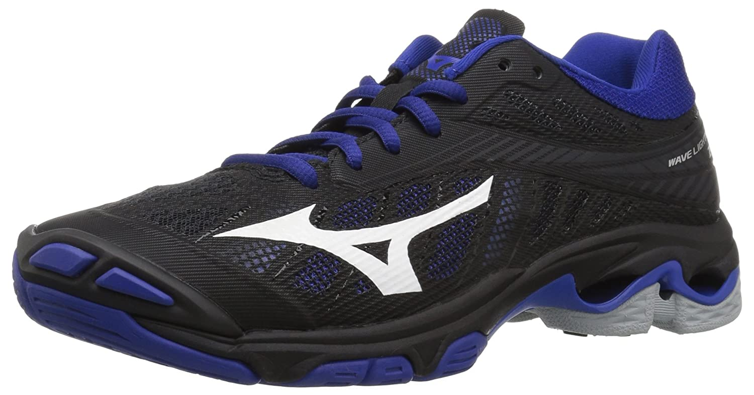 Mizuno Women's Wave Lightning Z4 Volleyball Shoe B07828QW8V Women's 12 B US|Black/Royal