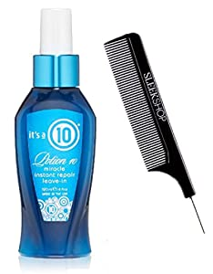 It's a 10 Ten POTION 10 Miracle INSTANT REPAIR Leave-In Product Spray Conditioner (with Sleek Steel Pin Tail Comb) (Potion 10 Instant Repair - 4 oz retail size)