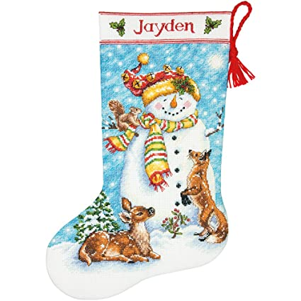 Dimensions Needlecrafts Winter Friends Stocking, Counted Cross Stitch Kit