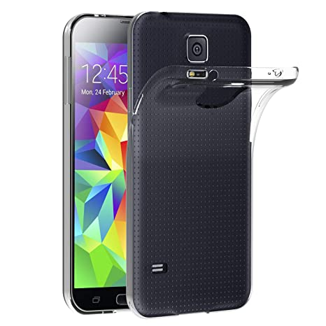 ivoler Funda Carcasa Gel Transparente Compatible con Samsung Galaxy S5 / S5 Neo, Ultra Fina 0,33mm, Silicona TPU de Alta Resistencia y Flexibilidad