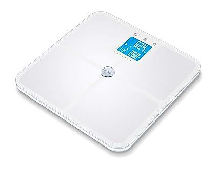 Beurer BF 950 - Báscula digital diagnóstica con IMC, función Bluetooth, de vidrio,