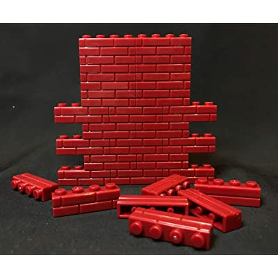 FIGLot 1/12 Brick Building Block x 150 pcs for Diorama Brick Wall - Red (Figure NOT Included): Toys & Games
