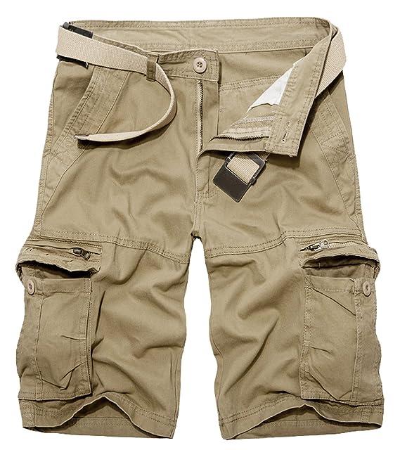Panegy Pantalones de Cargo Hombres Multi-Bolsillo Bermuda Cortos Deporte  Shorts Casual Clásico con Una Correa  Amazon.es  Ropa y accesorios a3430e64f1ff